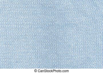 Cyan knitted cotton mesh.