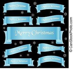cyan, lesklý, barva, merry christmas, heslo, oblý, lem, standarta, eps10
