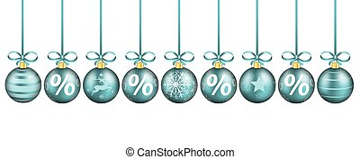 Cyan Sale Christmas Baubles