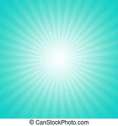 cyan, starburst, effect, achtergrond