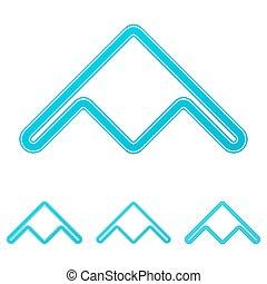 Cyan stealth bomber logo design set - Cyan line stealth...