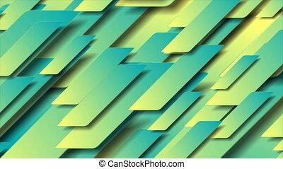 cyan, technologie, résumé, jaune, géométrique, fond, ...