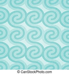 cyan waves