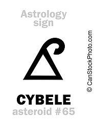 cybele, astrology:, astéroïde, (phrygia)