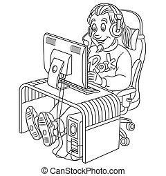 cyber , μπογιά , σελίδα , αγώνας