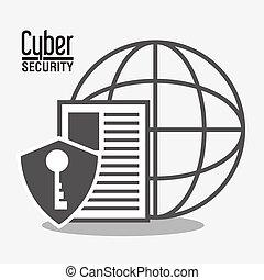 cyber, セキュリティシステム, ナンキン錠, 世界的である, デザイン