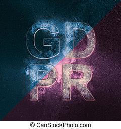 cyber, 安全, 以及, privacy., 一般, 數据保護, 規定, (gdpr), 空間, 概念