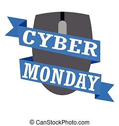 cyber, 月曜日, ラベル
