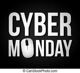 cyber, 月曜日, 取引