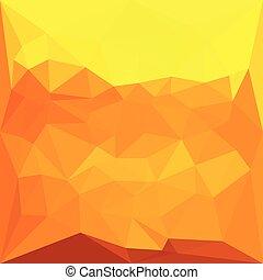 cyber, 黃色, 摘要, 低, 多角形, 背景