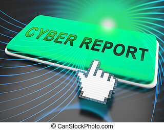 cyber, 보고, 디지털, analytics, 은 유래한다, 3차원, 삽화