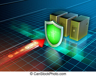 cyber, anfalde, beskyttelse