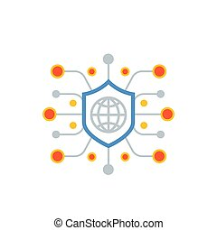 cyber attack, ddos vector icon, eps 10 file, easy to edit