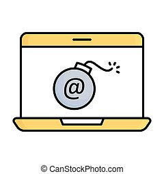 Cyber attack  half glyph vector icon which can easily modify or edit