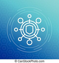 cyber attack icon, pictogram, vector illustration, eps 10 file, easy to edit