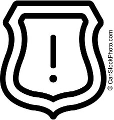 cyber attack icon vector. A thin line sign. Isolated contour symbol illustration