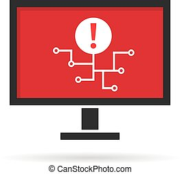 cyber attack on personal computer or virus spread. concept ...
