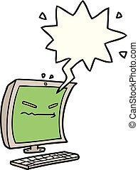 cyber bullying cartoon and speech bubble