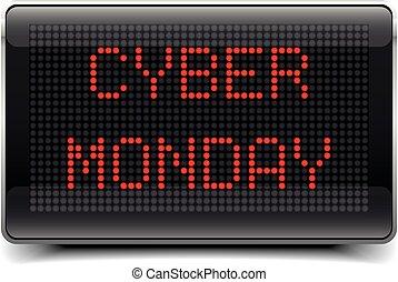cyber, conduzido, tábua, segunda-feira