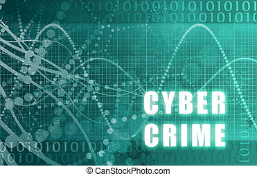 Cyber Crime Abstract Technology as a Background