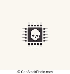 cyber crime base icon. Simple sign illustration. cyber crime symbol design. Can be used for web and mobile