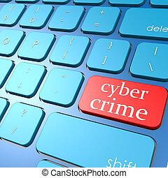 Cyber crime keyboard