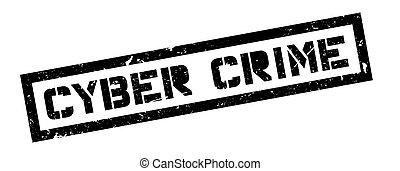 Cyber Crime rubber stamp on white. Print, impress,...