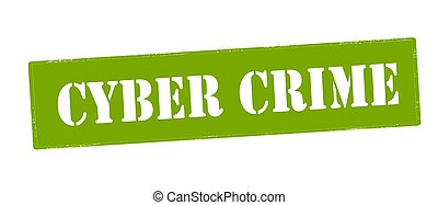 Cyber crime - Stamp with text cyber crime inside, vector...