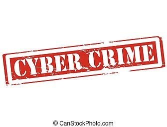 Cyber crime - Rubber stamp with text cyber crime inside,...