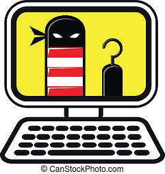 cyber crime - illustration of cyber crime