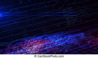 cyber, cyberespace, futuriste, animation, clã©, symbole,...