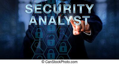 cyber, détective, toucher, sécurité, analyste