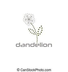 cyber dandelion vector design template