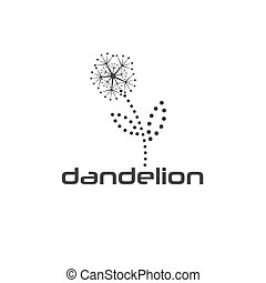 cyber dandelion vector design template