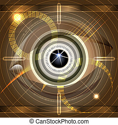 Cyber eye - Abstract illustration with cyber eye as metaphor...