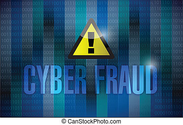 cyber fraud binary background illustration