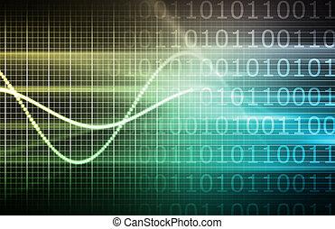 Cyber Futuristic in Background of a Presentation