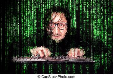cyber, homem