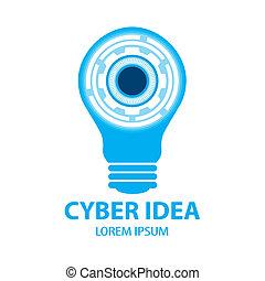 Cyber idea symbol icon