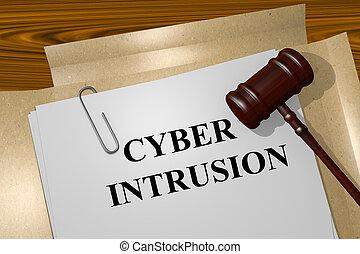 Cyber Intrusion concept