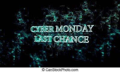 'cyber, leest, maandag, elektronisch, tekst, -, ronddraaien,...