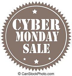 cyber, lundi, sale-label