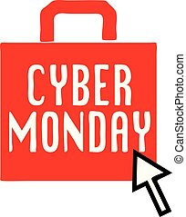 cyber, lunedì, icona