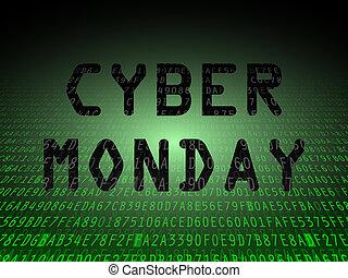 cyber, lunes, datos, plano de fondo