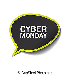 abstract cyber monday label on a white background