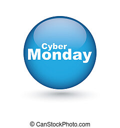 Cyber monday - abstract cyber monday label on a white...