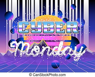 Cyber Monday advertising poster