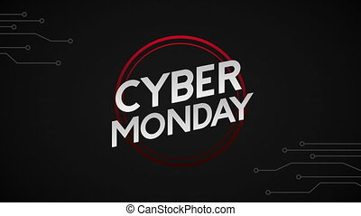 cyber monday animation with label