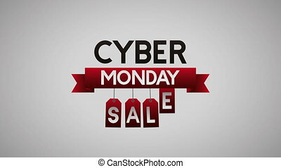 cyber monday animation with lettering
