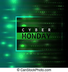 Cyber Monday background in style matrix